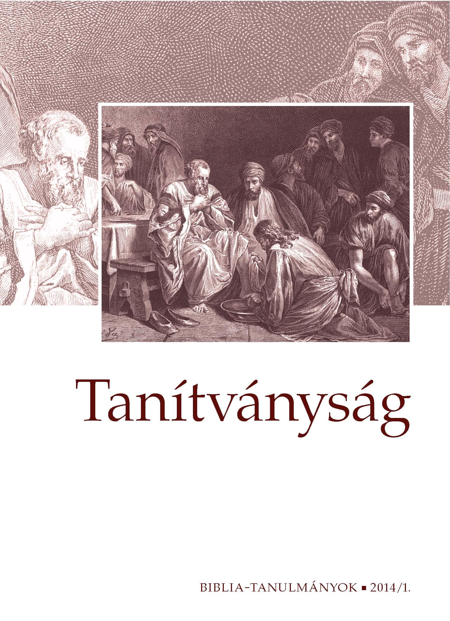 Tanítványság 2014/01.